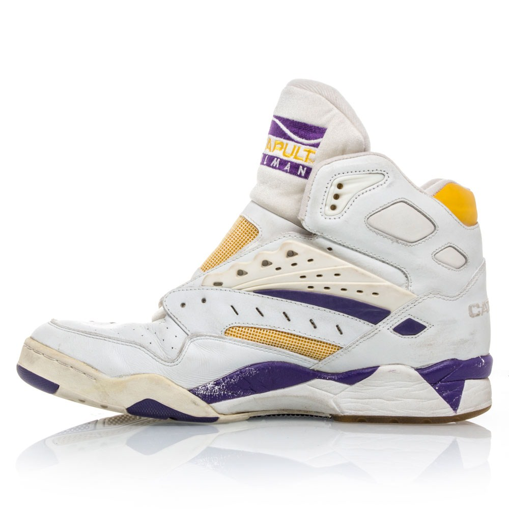 LA Gear Catapult Mailman Karl Malone - Mens Basketball Shoes - White